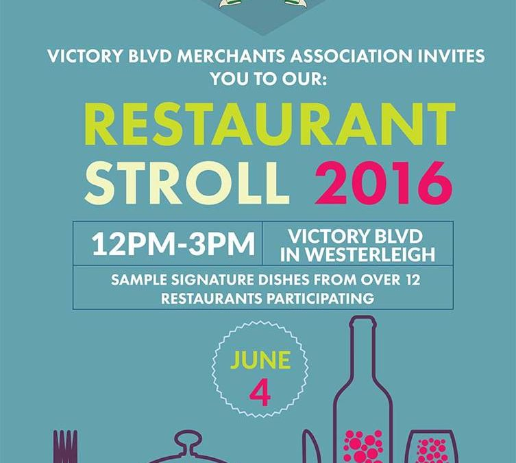 Join us for the Second Restaurant Stroll
